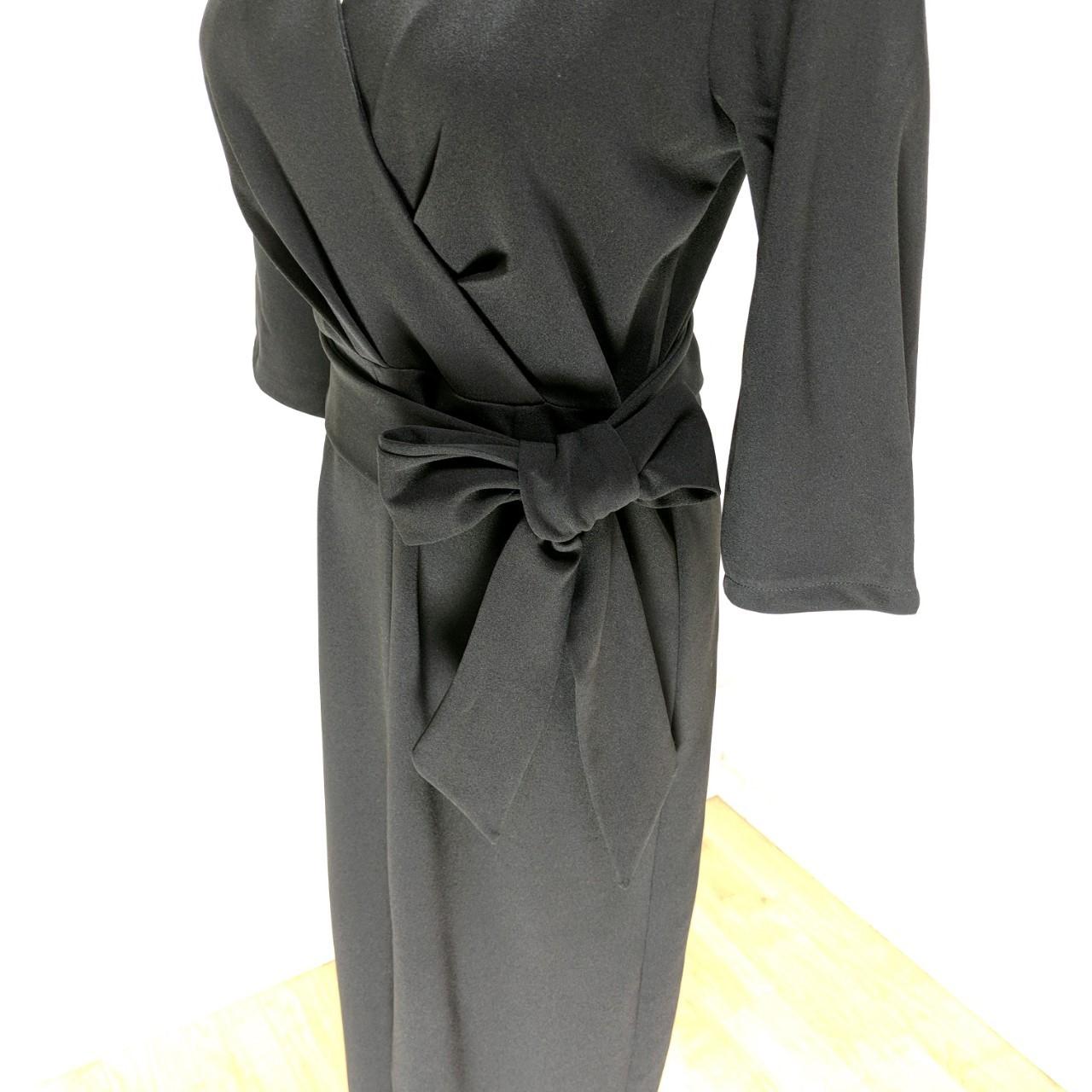 【即納】韓国 ファッション ワンピース パーティードレス ロング マキシ 秋 冬 パーティー ブライダル SPTXC523 結婚式 お呼ばれ ラップ ドレープ ウエストマーク 二次会 セレブ きれいめの写真18枚目
