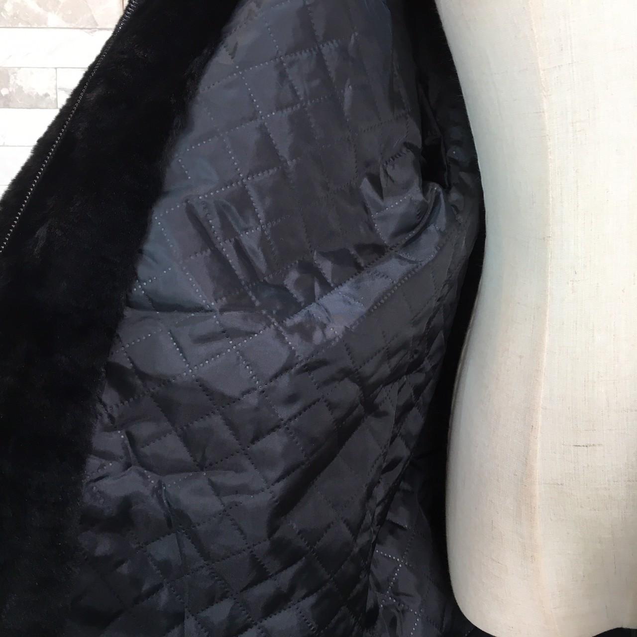 【即納】韓国 ファッション アウター ムートン ファーコート 秋 冬 カジュアル SPTXC599  もこもこ ふわふわ エコファー パーカー オーバーサイズ フ オルチャン シンプル 定番 セレカジの写真16枚目