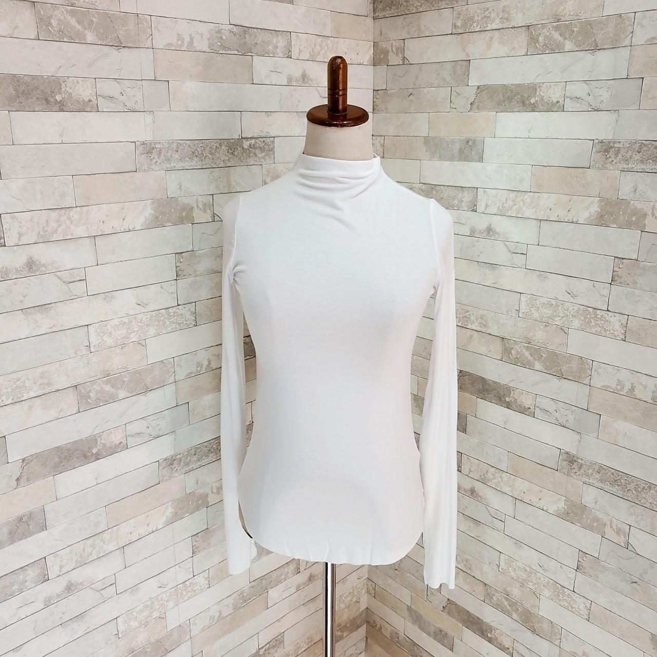 【即納】韓国 ファッション トップス Tシャツ カットソー 秋 冬 カジュアル SPTXD048  ボトルネック ハイネック ロンT ベーシック タイト ジャケッ オルチャン シンプル 定番 セレカジの写真19枚目