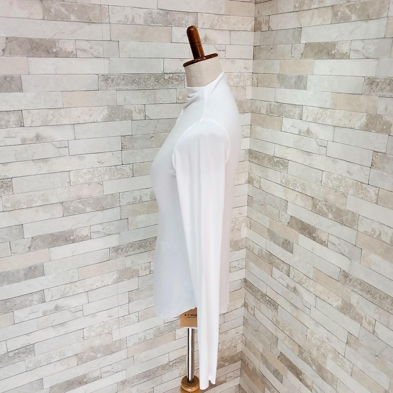【即納】韓国 ファッション トップス Tシャツ カットソー 秋 冬 カジュアル SPTXD048  ボトルネック ハイネック ロンT ベーシック タイト ジャケッ オルチャン シンプル 定番 セレカジの写真20枚目