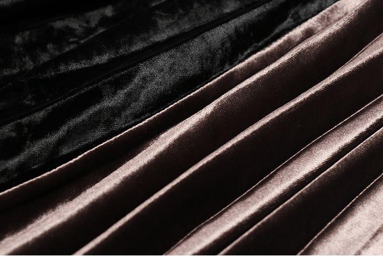 「さりげなさがオシャレ上級者!」バイカラープリーツスカート 秋 冬 PTXD086の写真7枚目