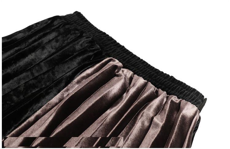 「さりげなさがオシャレ上級者!」バイカラープリーツスカート 秋 冬 PTXD086の写真8枚目