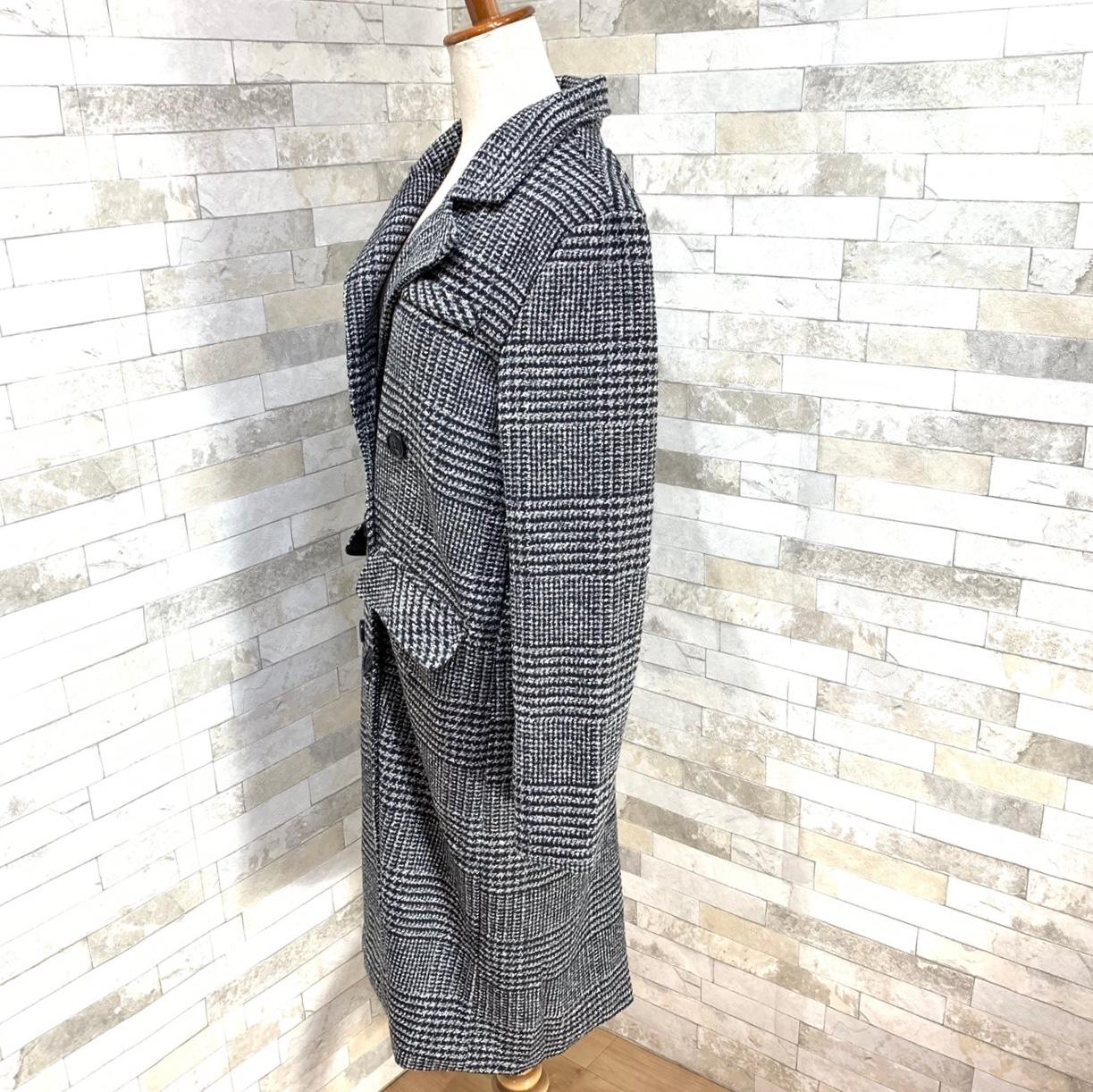 【即納】韓国 ファッション アウター コート 秋 冬 カジュアル SPTXD248  グレンチェック ダブル ロング チェスター オフィス エレガント オルチャン シンプル 定番 セレカジの写真16枚目