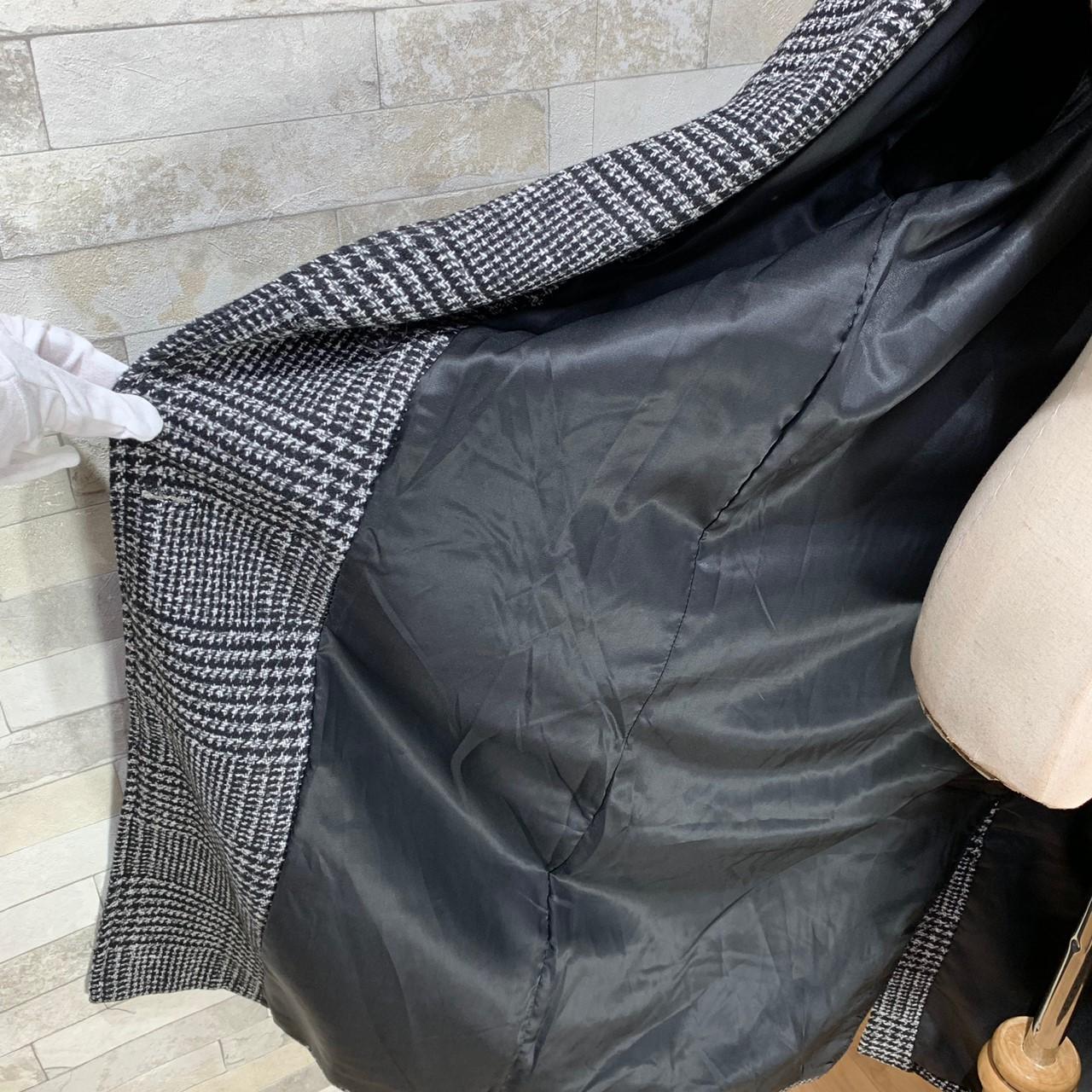 【即納】韓国 ファッション アウター コート 秋 冬 カジュアル SPTXD248  グレンチェック ダブル ロング チェスター オフィス エレガント オルチャン シンプル 定番 セレカジの写真19枚目