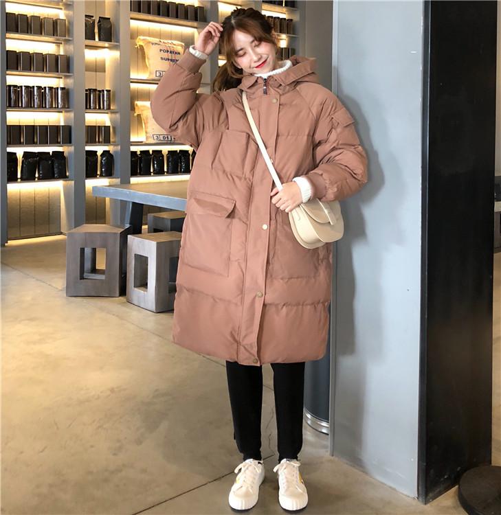【即納】韓国 ファッション アウター ダウンジャケット ダウンコート 秋 冬 カジュアル SPTXD596  ペールカラー もこもこ ロング オーバーサイズ エコ オルチャン シンプル 定番 セレカジの写真5枚目