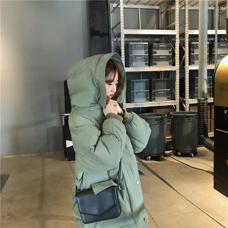 【即納】韓国 ファッション アウター ダウンジャケット ダウンコート 秋 冬 カジュアル SPTXD596  ペールカラー もこもこ ロング オーバーサイズ エコ オルチャン シンプル 定番 セレカジの写真6枚目