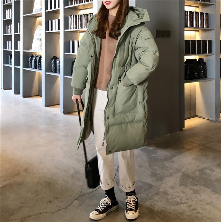 【即納】韓国 ファッション アウター ダウンジャケット ダウンコート 秋 冬 カジュアル SPTXD596  ペールカラー もこもこ ロング オーバーサイズ エコ オルチャン シンプル 定番 セレカジの写真7枚目