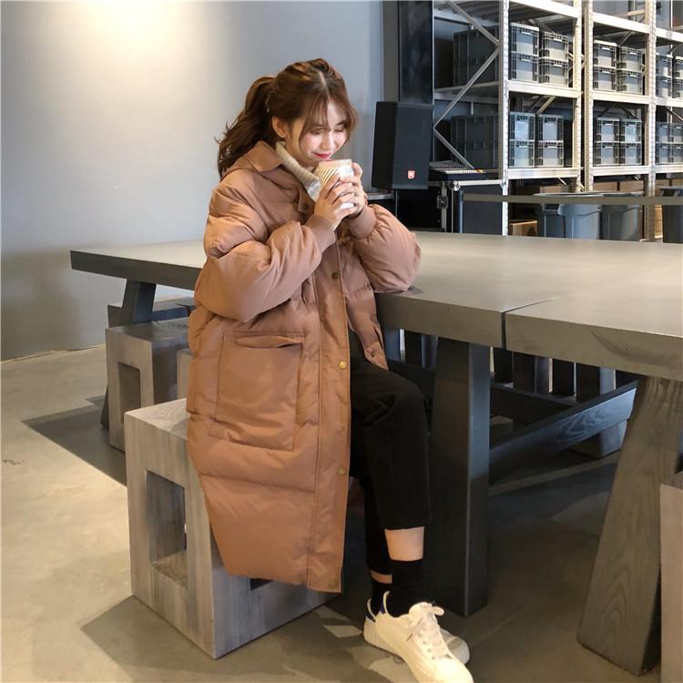【即納】韓国 ファッション アウター ダウンジャケット ダウンコート 秋 冬 カジュアル SPTXD596  ペールカラー もこもこ ロング オーバーサイズ エコ オルチャン シンプル 定番 セレカジの写真8枚目