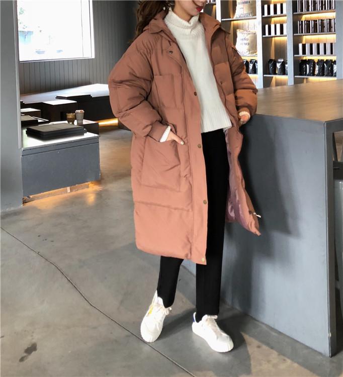 【即納】韓国 ファッション アウター ダウンジャケット ダウンコート 秋 冬 カジュアル SPTXD596  ペールカラー もこもこ ロング オーバーサイズ エコ オルチャン シンプル 定番 セレカジの写真9枚目