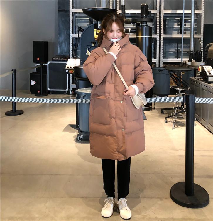 【即納】韓国 ファッション アウター ダウンジャケット ダウンコート 秋 冬 カジュアル SPTXD596  ペールカラー もこもこ ロング オーバーサイズ エコ オルチャン シンプル 定番 セレカジの写真10枚目