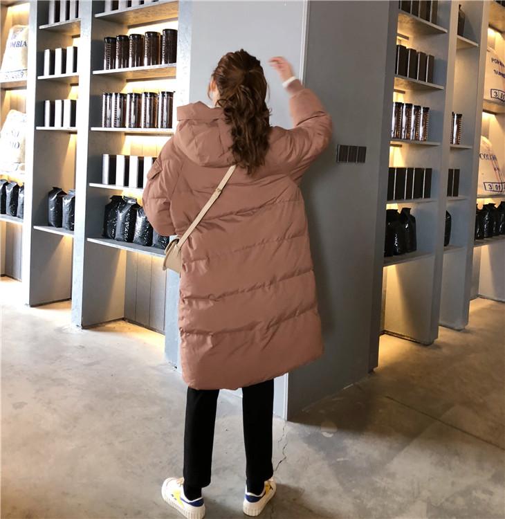 【即納】韓国 ファッション アウター ダウンジャケット ダウンコート 秋 冬 カジュアル SPTXD596  ペールカラー もこもこ ロング オーバーサイズ エコ オルチャン シンプル 定番 セレカジの写真11枚目