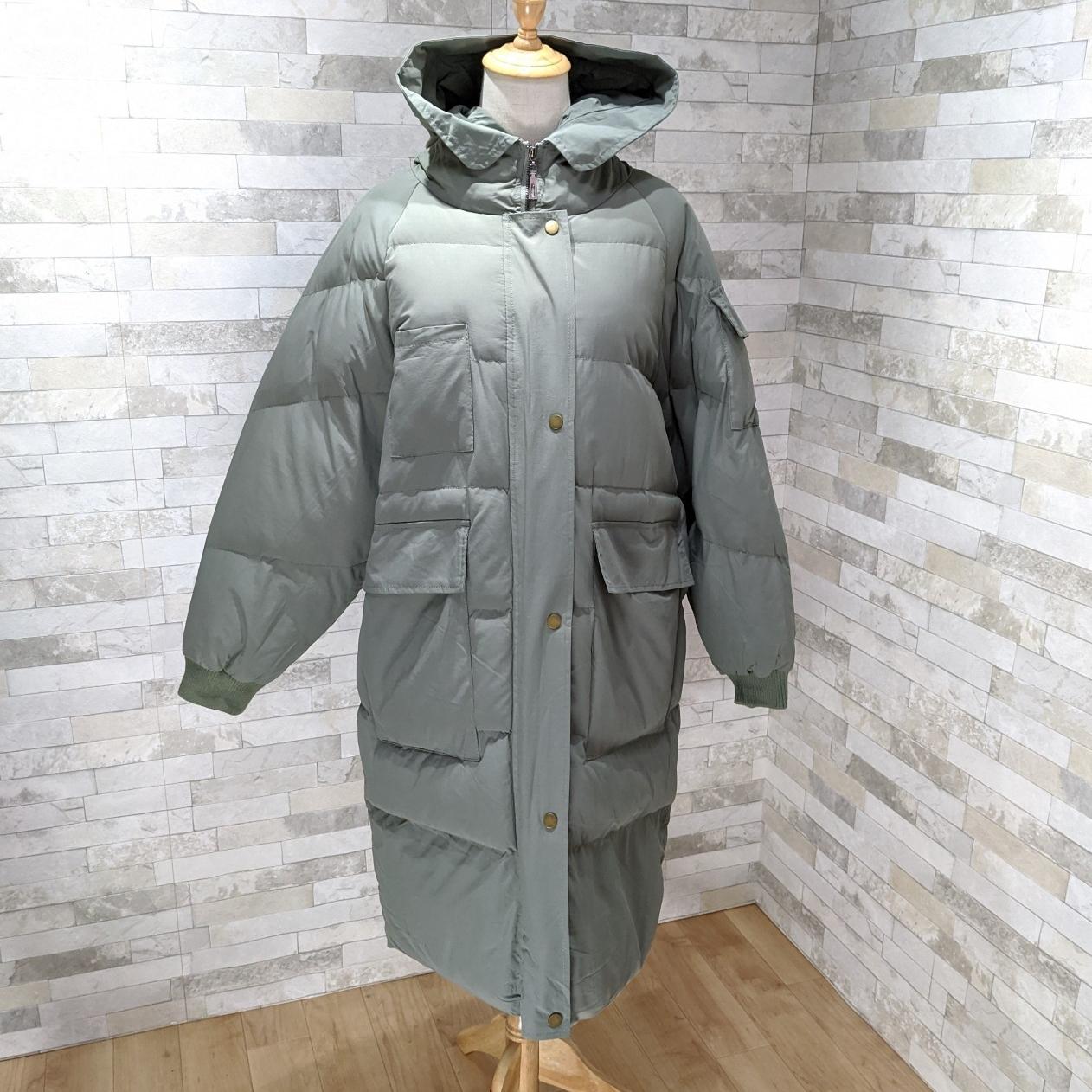 【即納】韓国 ファッション アウター ダウンジャケット ダウンコート 秋 冬 カジュアル SPTXD596  ペールカラー もこもこ ロング オーバーサイズ エコ オルチャン シンプル 定番 セレカジの写真13枚目