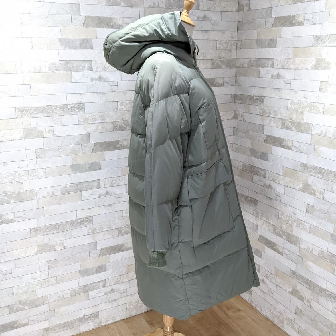【即納】韓国 ファッション アウター ダウンジャケット ダウンコート 秋 冬 カジュアル SPTXD596  ペールカラー もこもこ ロング オーバーサイズ エコ オルチャン シンプル 定番 セレカジの写真14枚目