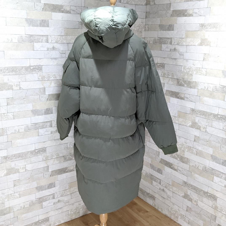 【即納】韓国 ファッション アウター ダウンジャケット ダウンコート 秋 冬 カジュアル SPTXD596  ペールカラー もこもこ ロング オーバーサイズ エコ オルチャン シンプル 定番 セレカジの写真15枚目