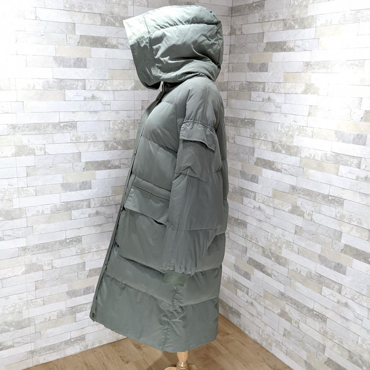 【即納】韓国 ファッション アウター ダウンジャケット ダウンコート 秋 冬 カジュアル SPTXD596  ペールカラー もこもこ ロング オーバーサイズ エコ オルチャン シンプル 定番 セレカジの写真16枚目