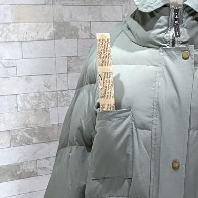 【即納】韓国 ファッション アウター ダウンジャケット ダウンコート 秋 冬 カジュアル SPTXD596  ペールカラー もこもこ ロング オーバーサイズ エコ オルチャン シンプル 定番 セレカジの写真18枚目