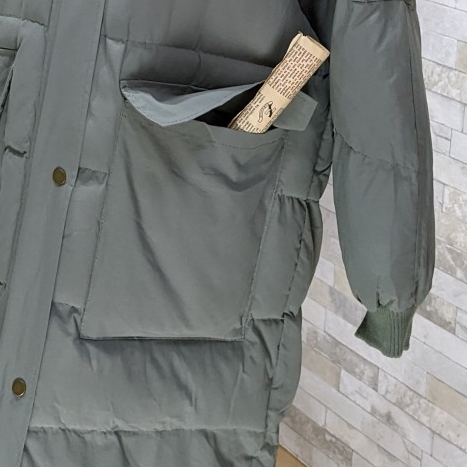 【即納】韓国 ファッション アウター ダウンジャケット ダウンコート 秋 冬 カジュアル SPTXD596  ペールカラー もこもこ ロング オーバーサイズ エコ オルチャン シンプル 定番 セレカジの写真19枚目