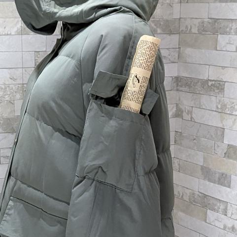 【即納】韓国 ファッション アウター ダウンジャケット ダウンコート 秋 冬 カジュアル SPTXD596  ペールカラー もこもこ ロング オーバーサイズ エコ オルチャン シンプル 定番 セレカジの写真20枚目