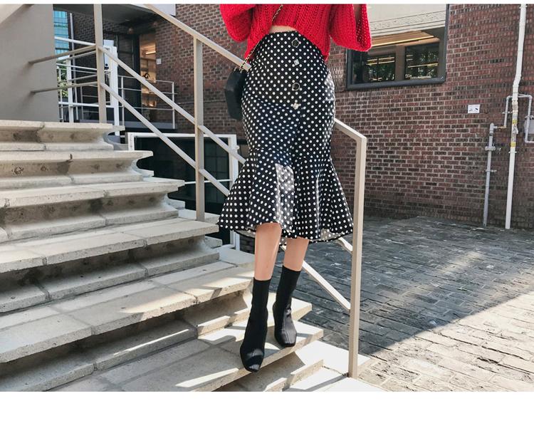 韓国 ファッション セットアップ 秋 冬 カジュアル PTXD696  ショート リブニット マーメイドスカート ローゲージ オーバーサイズ オルチャン シンプル 定番 セレカジの写真10枚目