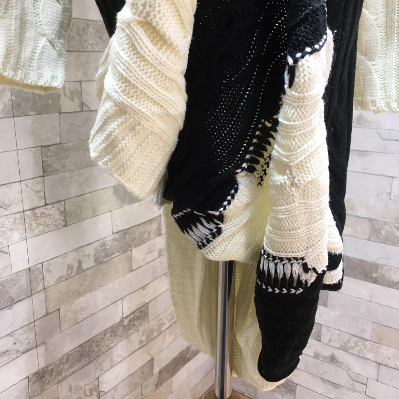 韓国 ファッション ワンピース 秋 冬 カジュアル PTXD698  モノトーン ハイネック ウエストマーク ミディ丈 ケーブルニット オフィス オルチャン シンプル 定番 セレカジの写真20枚目