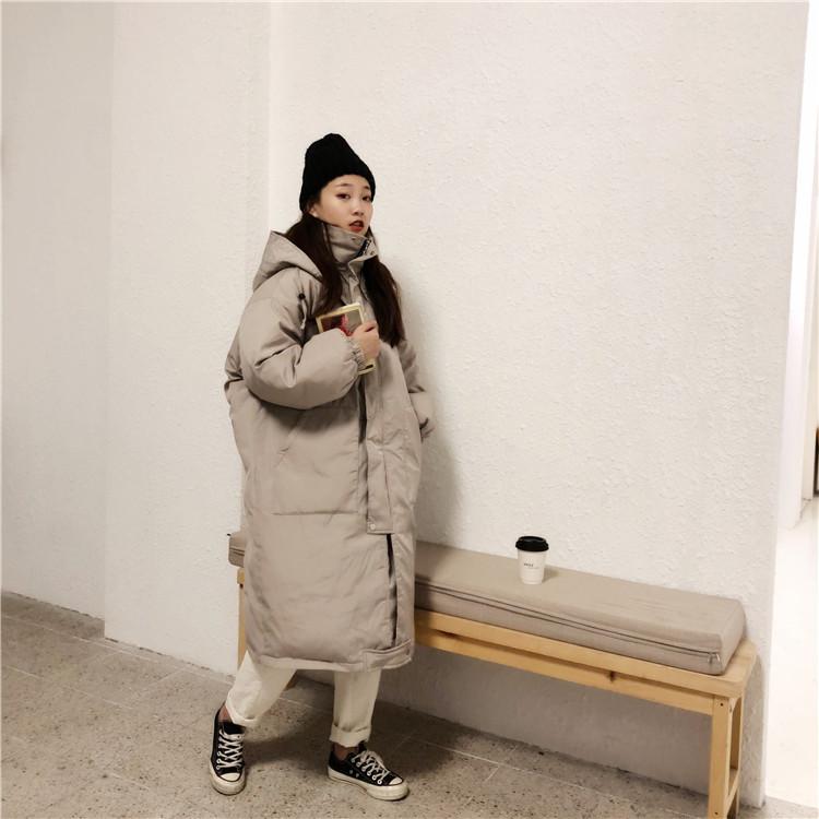 韓国 ファッション アウター ダウンジャケット ダウンコート 秋 冬 カジュアル PTXD856  ミモレ丈 ビッグシルエット 中綿 エコダウン ジャケット スタ オルチャン シンプル 定番 セレカジの写真4枚目