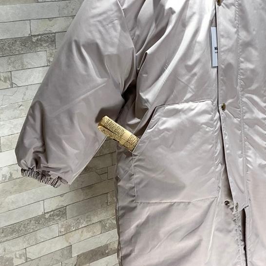 韓国 ファッション アウター ダウンジャケット ダウンコート 秋 冬 カジュアル PTXD856  ミモレ丈 ビッグシルエット 中綿 エコダウン ジャケット スタ オルチャン シンプル 定番 セレカジの写真19枚目