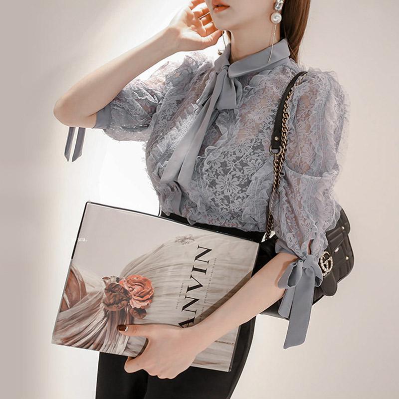 韓国 ファッション パンツ セットアップ パーティードレス 結婚式 お呼ばれドレス 春 秋 冬 パーティー ブライダル PTXE127  フリル レース ブラウス ハイウエス 二次会 セレブ きれいめの写真5枚目