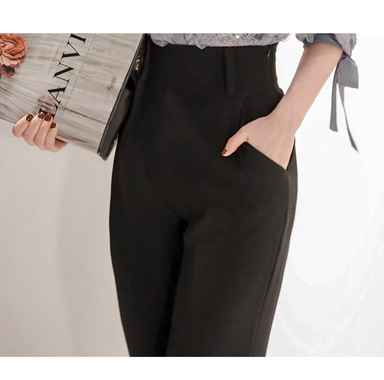 韓国 ファッション パンツ セットアップ パーティードレス 結婚式 お呼ばれドレス 春 秋 冬 パーティー ブライダル PTXE127  フリル レース ブラウス ハイウエス 二次会 セレブ きれいめの写真19枚目