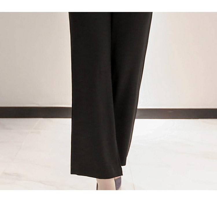 韓国 ファッション パンツ セットアップ パーティードレス 結婚式 お呼ばれドレス 春 秋 冬 パーティー ブライダル PTXE127  フリル レース ブラウス ハイウエス 二次会 セレブ きれいめの写真20枚目
