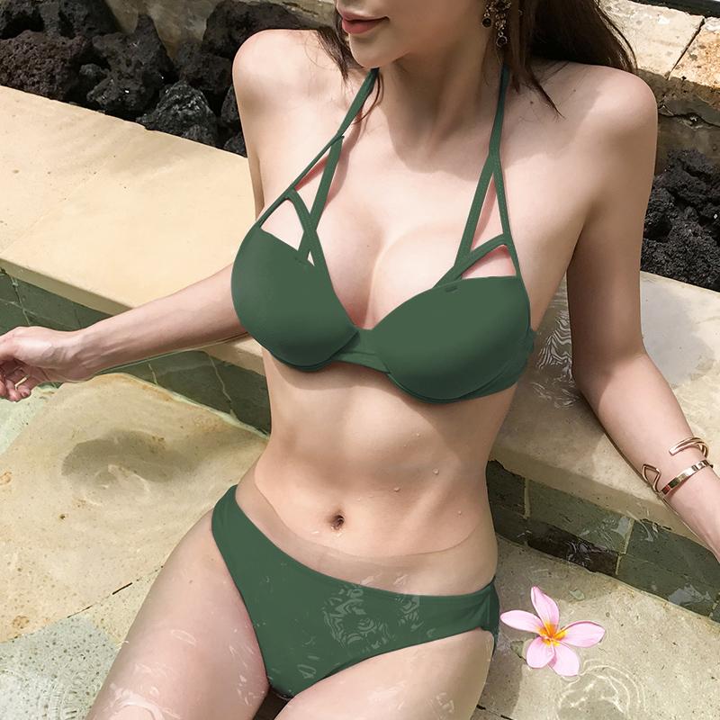 「デコルテで差をつける☆」ニュアンスある胸元を作るビキニ 夏 春 PTXE455の写真2枚目
