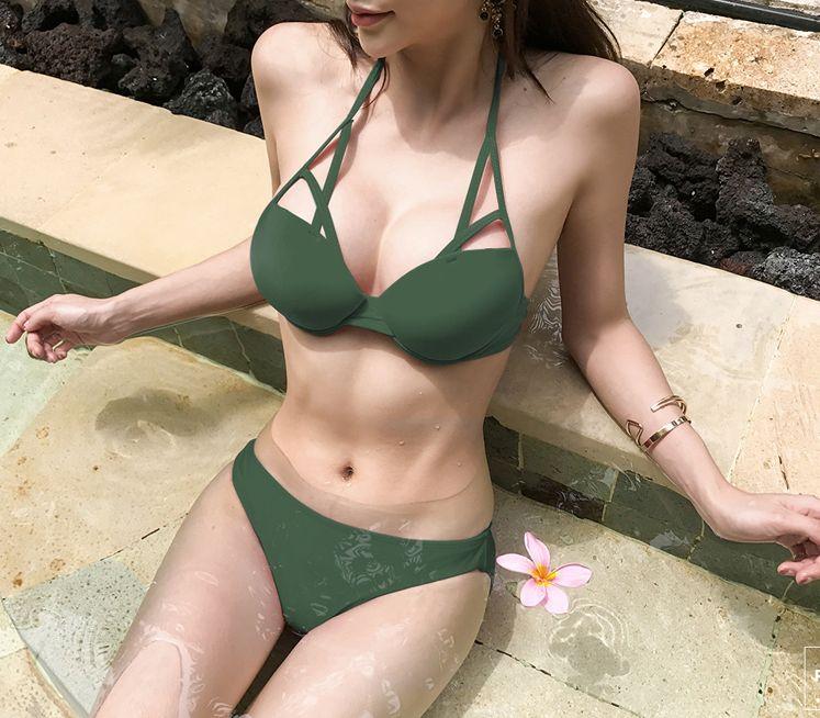 「デコルテで差をつける☆」ニュアンスある胸元を作るビキニ 夏 春 PTXE455の写真7枚目