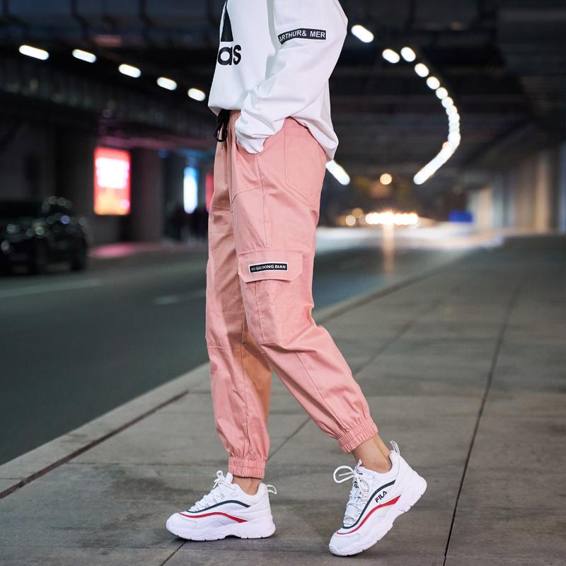 【即納】韓国 ファッション パンツ ボトムス 秋 夏 春 カジュアル SPTXE508  ワイド リブ カーゴ ジョガー イージー ストリート スポーティ オルチャン シンプル 定番 セレカジの写真3枚目