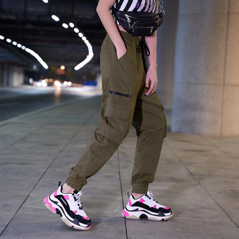 【即納】韓国 ファッション パンツ ボトムス 秋 夏 春 カジュアル SPTXE508  ワイド リブ カーゴ ジョガー イージー ストリート スポーティ オルチャン シンプル 定番 セレカジの写真5枚目