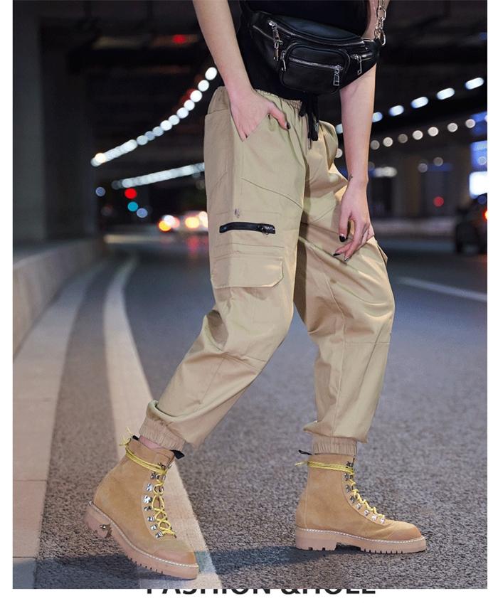 【即納】韓国 ファッション パンツ ボトムス 秋 夏 春 カジュアル SPTXE508  ワイド リブ カーゴ ジョガー イージー ストリート スポーティ オルチャン シンプル 定番 セレカジの写真11枚目