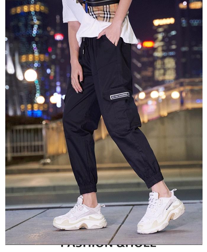 【即納】韓国 ファッション パンツ ボトムス 秋 夏 春 カジュアル SPTXE508  ワイド リブ カーゴ ジョガー イージー ストリート スポーティ オルチャン シンプル 定番 セレカジの写真14枚目
