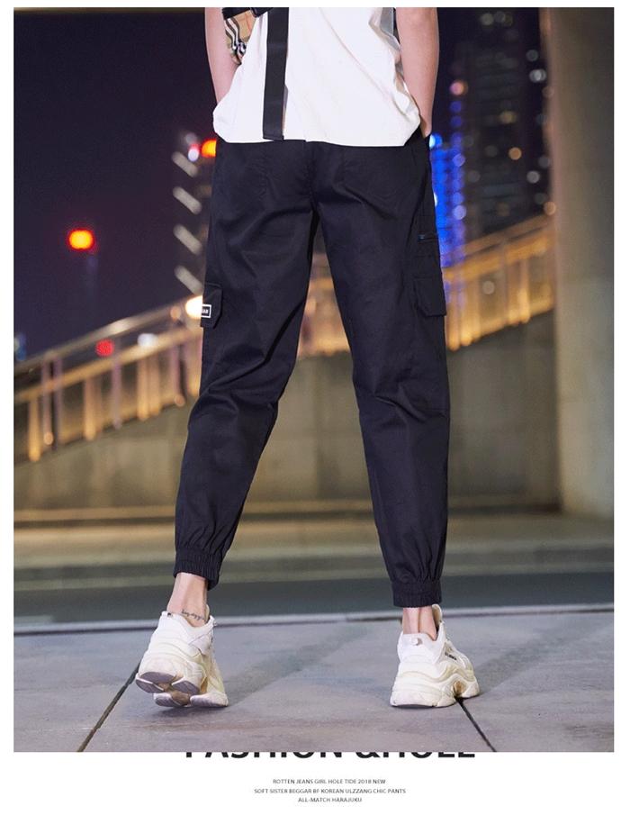 【即納】韓国 ファッション パンツ ボトムス 秋 夏 春 カジュアル SPTXE508  ワイド リブ カーゴ ジョガー イージー ストリート スポーティ オルチャン シンプル 定番 セレカジの写真15枚目