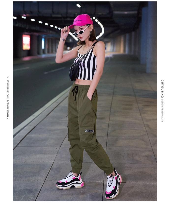 【即納】韓国 ファッション パンツ ボトムス 秋 夏 春 カジュアル SPTXE508  ワイド リブ カーゴ ジョガー イージー ストリート スポーティ オルチャン シンプル 定番 セレカジの写真16枚目