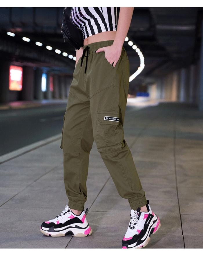 【即納】韓国 ファッション パンツ ボトムス 秋 夏 春 カジュアル SPTXE508  ワイド リブ カーゴ ジョガー イージー ストリート スポーティ オルチャン シンプル 定番 セレカジの写真17枚目