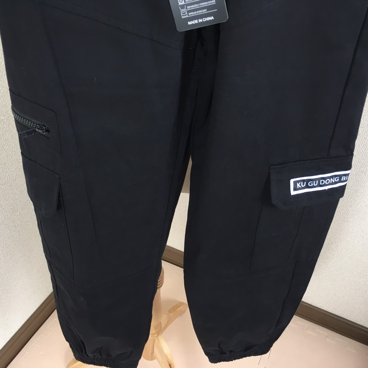 【即納】韓国 ファッション パンツ ボトムス 秋 夏 春 カジュアル SPTXE508  ワイド リブ カーゴ ジョガー イージー ストリート スポーティ オルチャン シンプル 定番 セレカジの写真20枚目