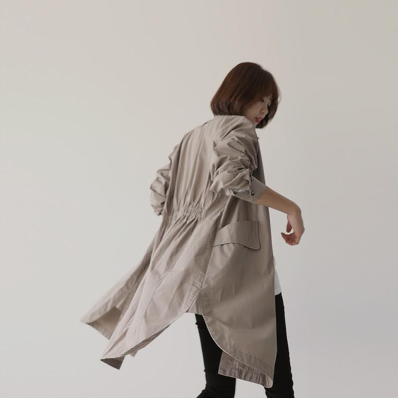 「シャツテールで動きを作る☆」春秋活躍ステンカラーコート 夏 春 PTXE547の写真6枚目