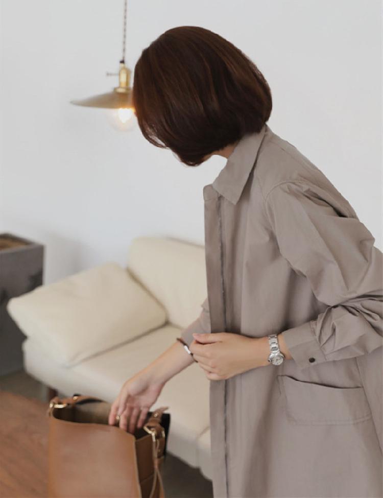 「シャツテールで動きを作る☆」春秋活躍ステンカラーコート 夏 春 PTXE547の写真10枚目