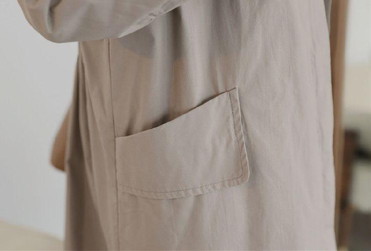 「シャツテールで動きを作る☆」春秋活躍ステンカラーコート 夏 春 PTXE547の写真11枚目