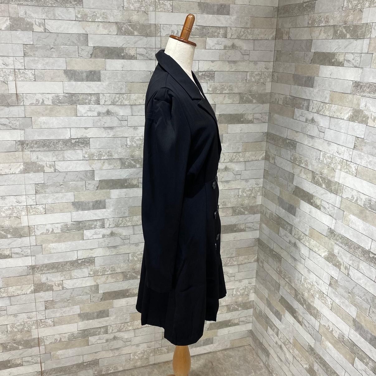 【即納】韓国 ファッション ワンピース 春 夏 秋 カジュアル SPTXE548  ミディ丈 コート エレガント パーティー オフィス フォーマル オルチャン シンプル 定番 セレカジの写真5枚目