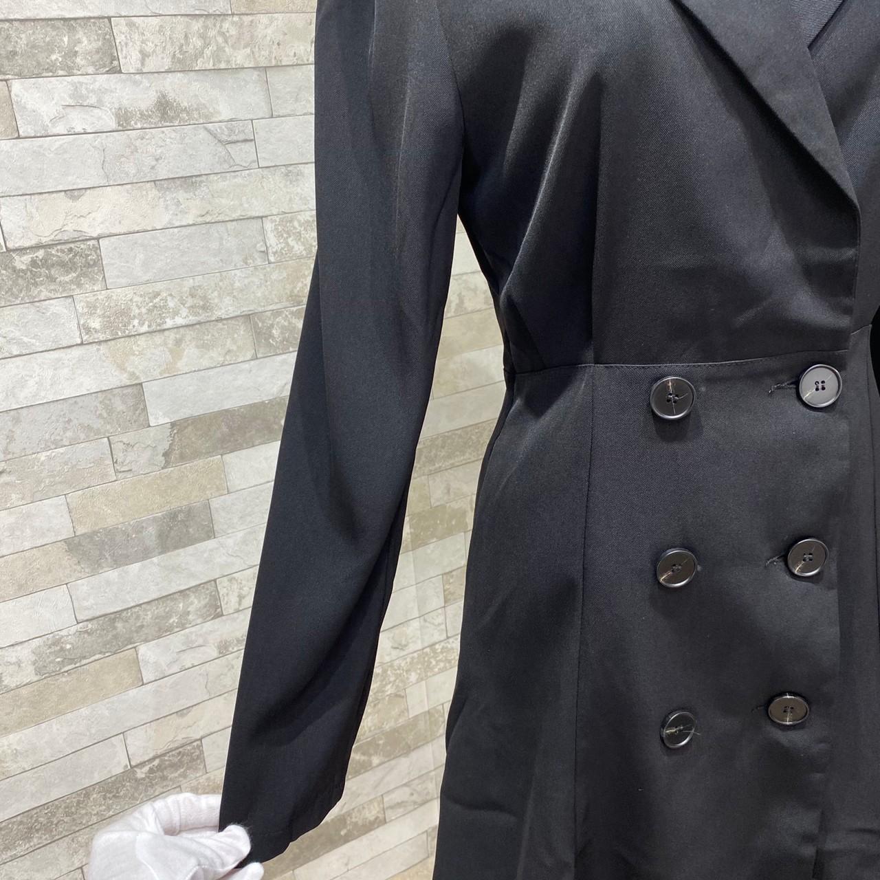 【即納】韓国 ファッション ワンピース 春 夏 秋 カジュアル SPTXE548  ミディ丈 コート エレガント パーティー オフィス フォーマル オルチャン シンプル 定番 セレカジの写真12枚目