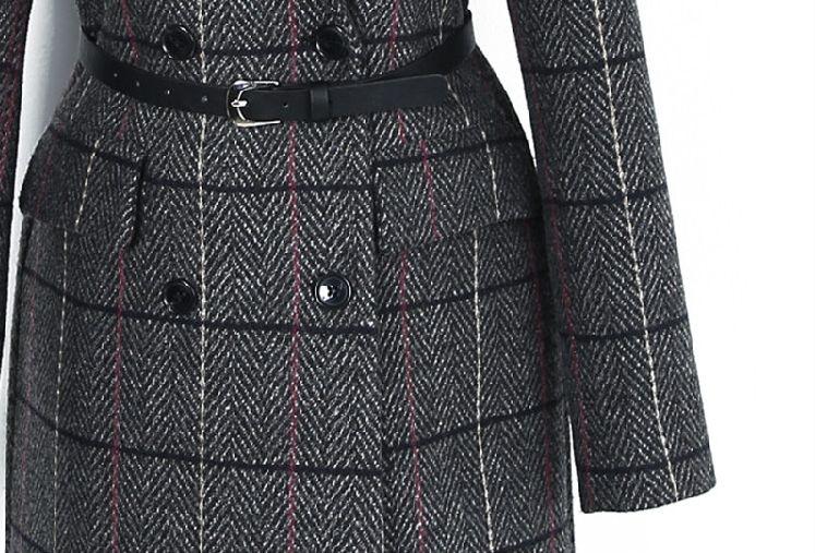 韓国 ファッション アウター コート 秋 冬 春 カジュアル PTXE549  ウィンドウペンチェック シック エレガント ツイード チェスター パーティー オフ オルチャン シンプル 定番 セレカジの写真19枚目