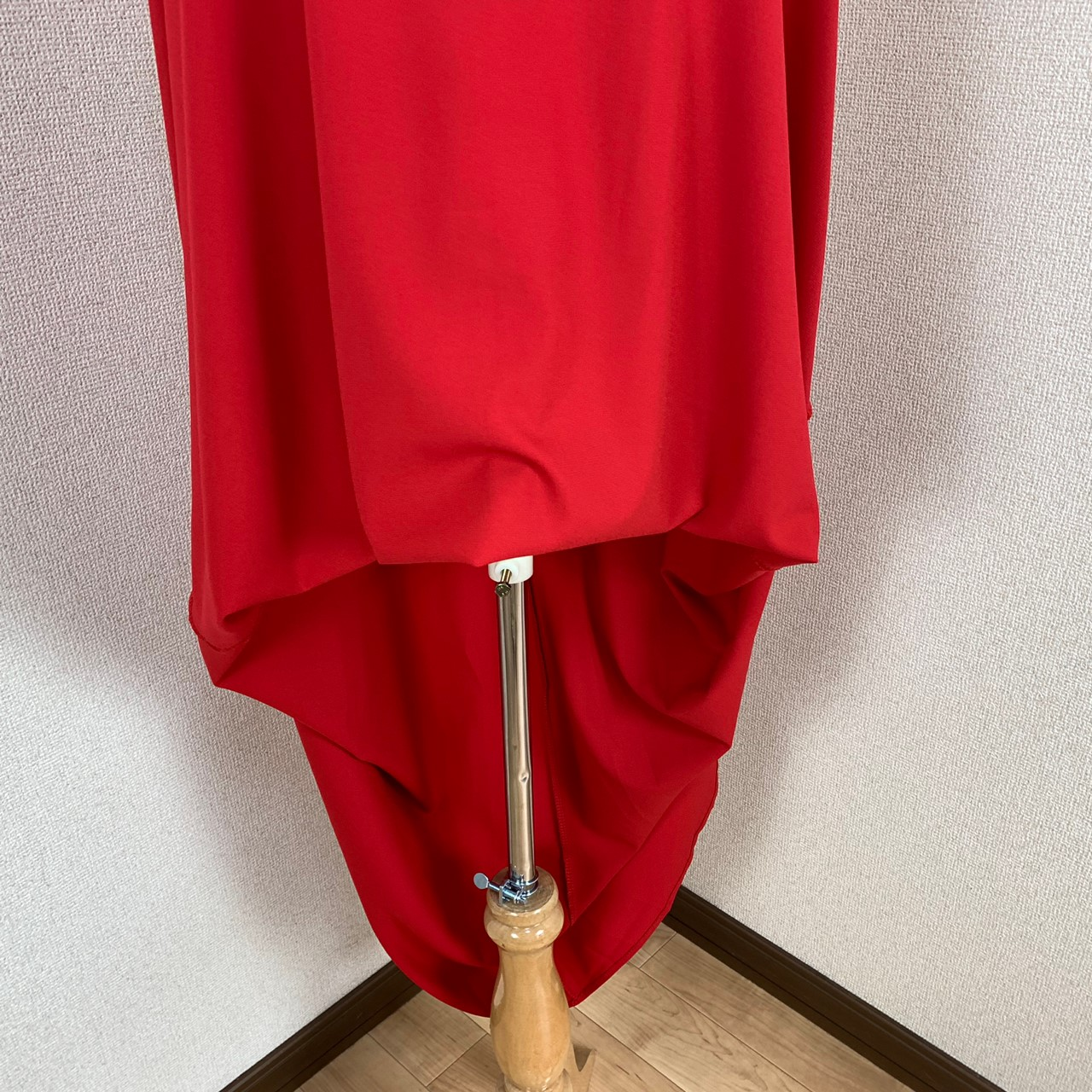 韓国 ファッション ワンピース パーティードレス ロング マキシ 春 夏 パーティー ブライダル PTXE759 結婚式 お呼ばれ バイカラー レース使い イレギュラーヘム  二次会 セレブ きれいめの写真17枚目