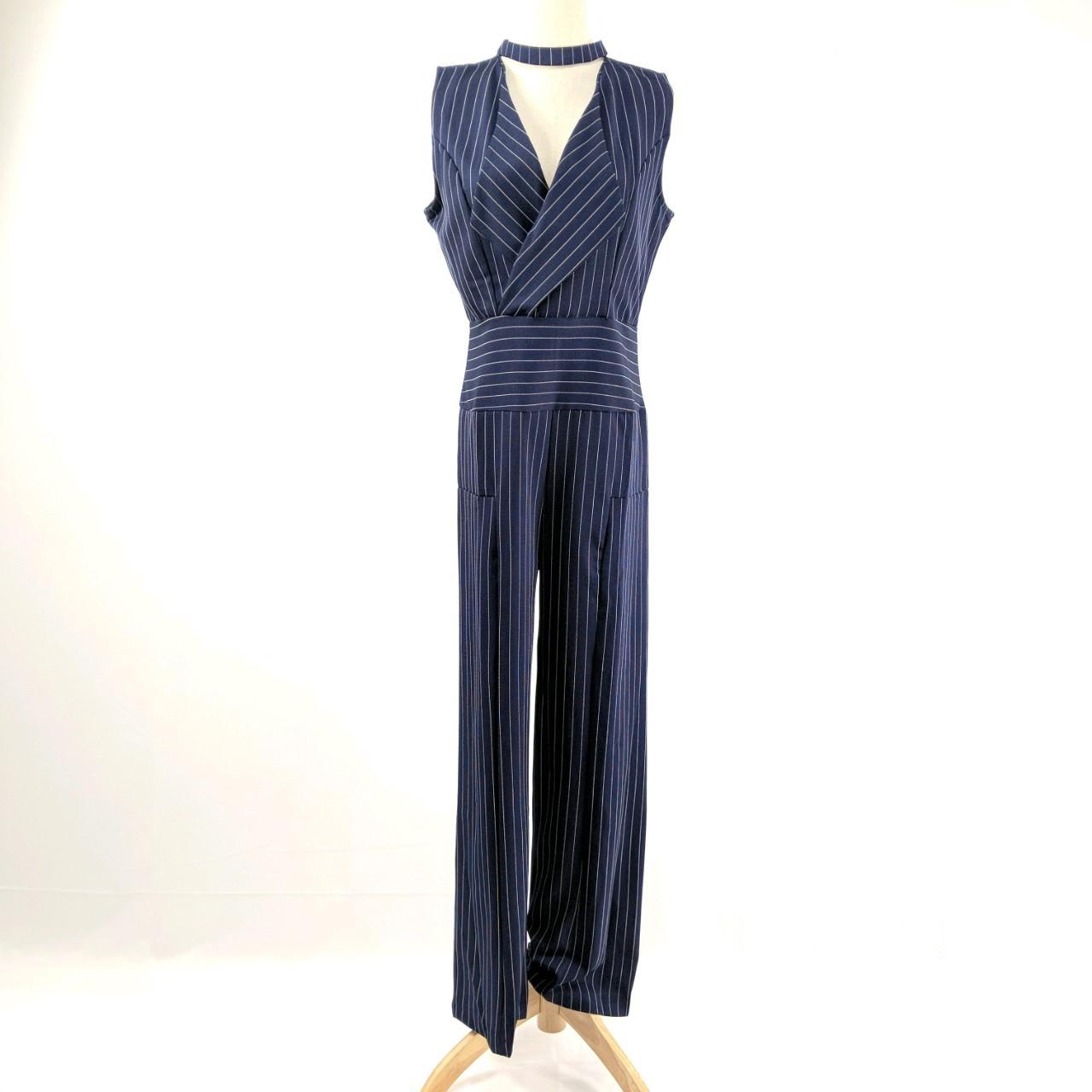 韓国 ファッション オールインワン サロペット 春 夏 パーティー ブライダル PTXE912  チョーカー風 Vネック ウエストマーク ワイドパンツ ドレス 二次会 セレブ きれいめの写真15枚目