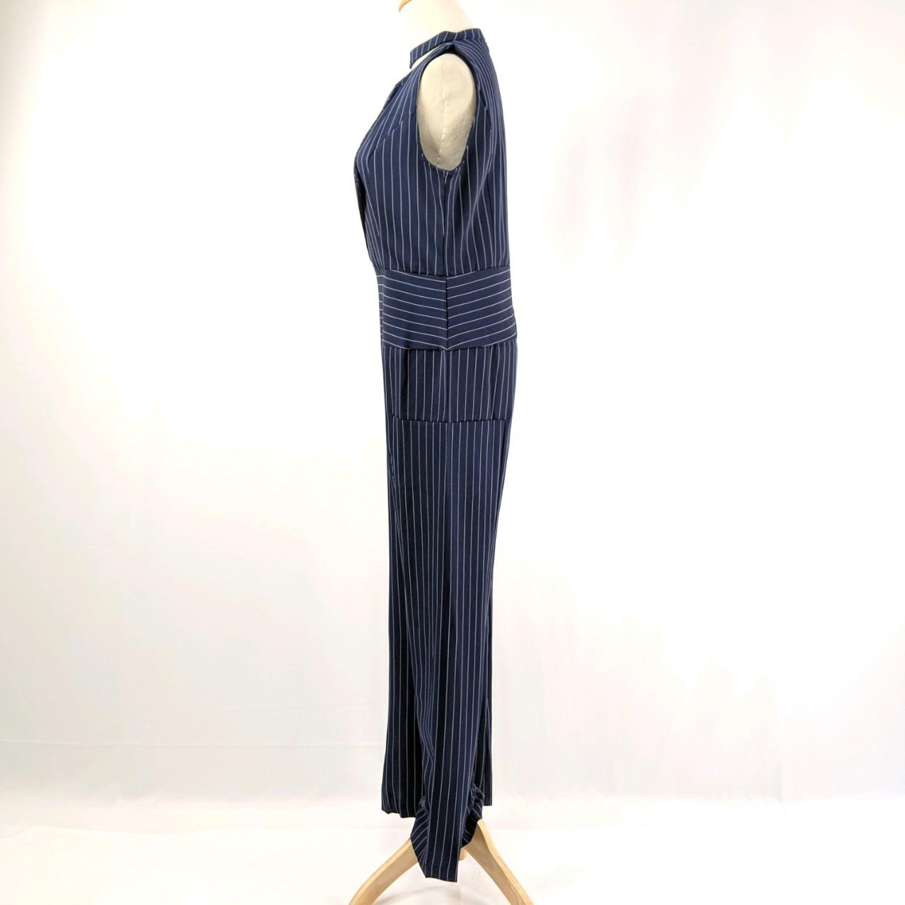 韓国 ファッション オールインワン サロペット 春 夏 パーティー ブライダル PTXE912  チョーカー風 Vネック ウエストマーク ワイドパンツ ドレス 二次会 セレブ きれいめの写真16枚目