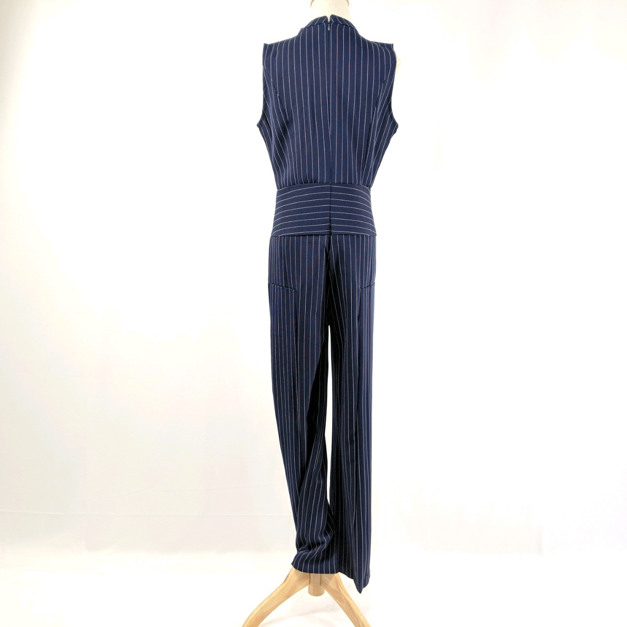 韓国 ファッション オールインワン サロペット 春 夏 パーティー ブライダル PTXE912  チョーカー風 Vネック ウエストマーク ワイドパンツ ドレス 二次会 セレブ きれいめの写真17枚目
