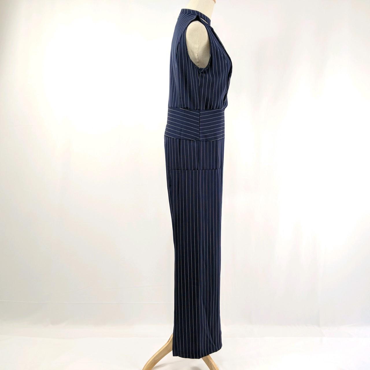 韓国 ファッション オールインワン サロペット 春 夏 パーティー ブライダル PTXE912  チョーカー風 Vネック ウエストマーク ワイドパンツ ドレス 二次会 セレブ きれいめの写真18枚目